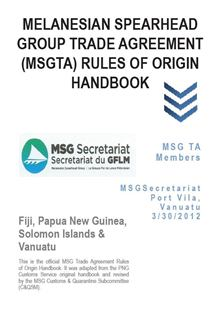 MSGTA Rules of Origin Handbook